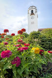 Boise Train Depot with colorful flowers Royalty Free Stock Photography