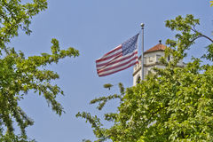 Boise Train Depot Flag Flying Proudly Stock Photography