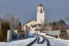Boise train depot winter anow Stock Photos
