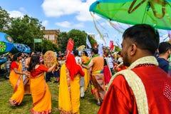 Boishakhi Mela - 2019 - Λονδίνο στοκ εικόνες