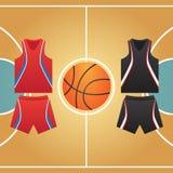 boisko do koszykówki jeżeli ilustracja royalty ilustracja