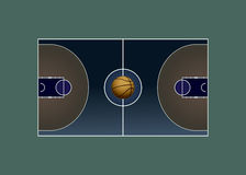 boisko do koszykówki jeżeli ilustracja Obrazy Stock
