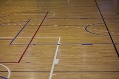 Boisko do koszykówki linie Zdjęcie Stock