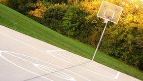 boisko do koszykówki obręcz Obrazy Royalty Free