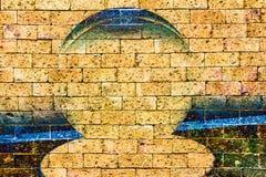 Boisko do koszykówki z czerwonym ściana z cegieł Zdjęcia Royalty Free