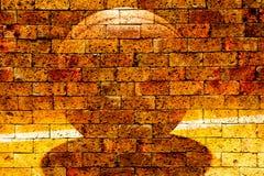 Boisko do koszykówki z czerwonym ściana z cegieł Obrazy Royalty Free