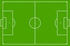 Boisko do piłki nożnej lub boisko piłkarskie, wektor EPS10 Obrazy Stock
