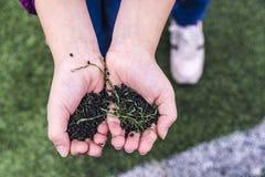 Boisko do piłki nożnej robić kawałki syntetyczna guma Obrazy Royalty Free