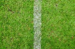 Boisko Do Piłki Nożnej z Biel Pionowo Linią Zdjęcie Stock