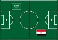 Boisko piłkarskie z flaga Obraz Royalty Free