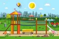 Boisko w miasto parku ilustracja wektor