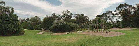 Boisko w parkowej panoramie Zdjęcie Stock