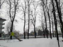 boisko zakrywający śnieg zdjęcie royalty free