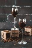 Boisson alcoolisée de café Image stock