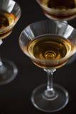Boisson alcoolisée en verres Photos libres de droits