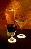 Boisson alcoolisée, vin, et bière Photos libres de droits