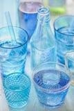Boisson bleue image stock
