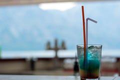 Boisson bleue d'Hawa? images libres de droits