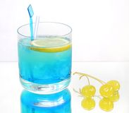 Boisson bleue froide Photographie stock libre de droits