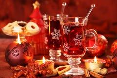 Boisson chaude pour l'hiver et Noël Photographie stock libre de droits