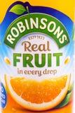 Boisson cordiale de fruit de Robinsons Images stock