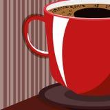 Boisson délicieuse de tasse de café illustration de vecteur