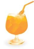 Boisson d'été avec l'orange Images libres de droits