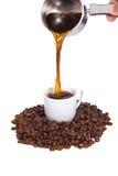 Boisson d'effusion de bac de café images libres de droits