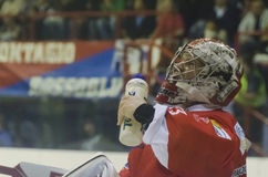 Boisson d'hockey photo libre de droits