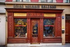 Boisson de baume de Riga de boutique image stock