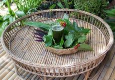 Boisson de chlorophylle photos stock