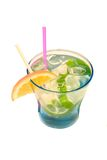 Boisson de cocktail avec le citron Images stock