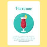 Boisson de cocktail d'ouragan dans l'icône de cercle illustration stock