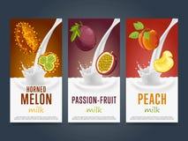 Boisson de cocktail de dessert d'éclaboussure de milkshake de fruits illustration stock