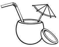 Boisson de cocktail de noix de coco illustration de vecteur