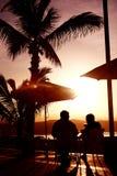 Boisson de coucher du soleil Images libres de droits