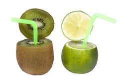 Boisson de fruit abstraite de limette et de kiwi. photographie stock libre de droits