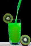 Boisson de kiwi, soude, cocktail Photographie stock