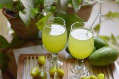 Boisson de mangue Photos stock