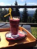 Boisson de Smoothie de fruit Photo stock