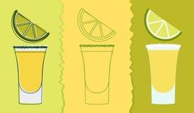 Boisson de tir de tequila illustration libre de droits