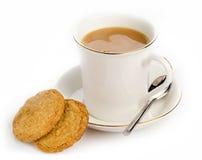 Boisson et biscuits chauds photo stock