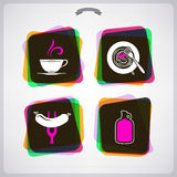 Boisson et nourriture Image stock