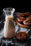 Boisson et petit pain de cacao Image libre de droits