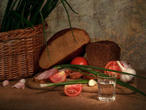 Boisson et repas Image libre de droits