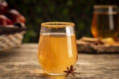 Boisson fraîche de cidre avec l'anis et la cannelle image stock