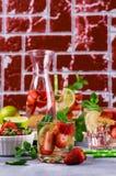 Boisson froide de fraise Photographie stock libre de droits