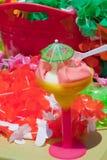 Boisson froide glaciale de dessert d'été Images libres de droits