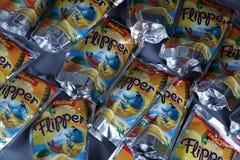 Boisson fruitée d'oro de ` de Rio d de nageoire pour des enfants photos libres de droits
