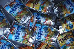 Boisson fruitée d'oro de ` de Rio d de nageoire pour des enfants photo libre de droits